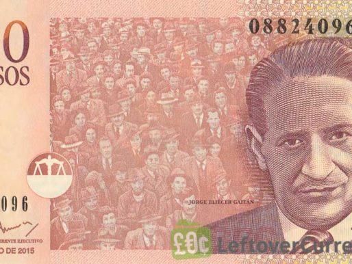 Una banconota da mille pesos colombiani